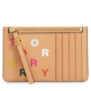 Tory Burch❤️NEW❤️ Letters Print Slim Card Case